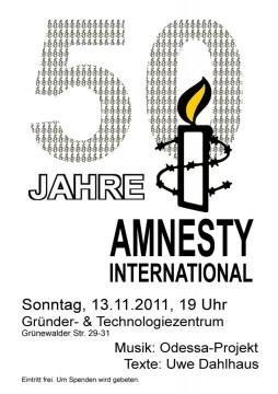 50 Jahre Amnesty Plakat