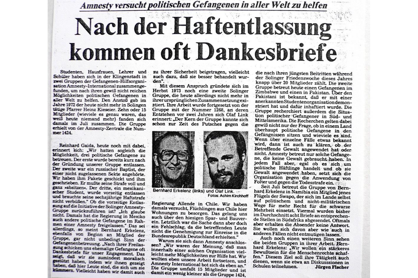Solinger Morgenpost 12/79: Portrait Solinger Gruppe