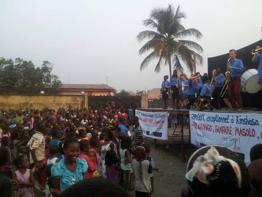 Konzert von Belakongo und Fanfare Masolo in Kinshasa. Foto: Volker Eigemann